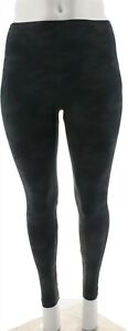 Spanx Look Me Now Seamless Leggings Black Camo 3X NEW A288131