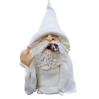Garden Sculpture Smoking Naughty Goblin Statue Dwarf  for Lawn Ornaments