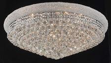 World Capital Bangle 20 Light Crystal Chandelier Flush Mount Ceiling Light Chrom