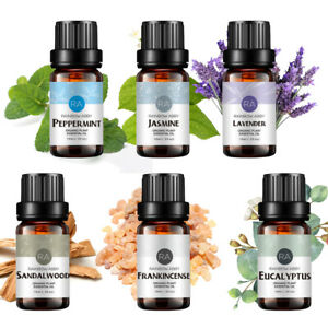 RAINBOW ABBY 10ml Essential Oils Set, Top 6 x Aromatherapy Oil for Diffuser UK