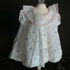 Antique Triangle Design Dress For Small Antique Bisque and Composition Dolls