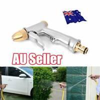 High Pressure Water Spray Gun Brass Nozzle Garden Hose Pipe Lawn Car Wash #T
