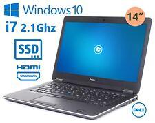 """Dell Latitude E7440 14"""" i7 4600U 1.9Ghz 8GB 256GB mSata SSD HDMI Windows 10 Pro"""
