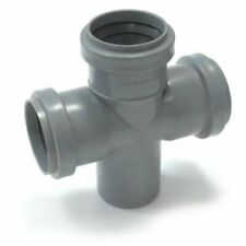 9 Soil Pipe & Vent 50 mm Double Branch 50/50/50/90 - Push-Fit Waste Fitting