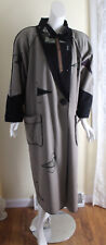 MARYLOU Ozbolt Storer S M Funky Art--Wear Unusual FUN Patchwork Wool Long Coat