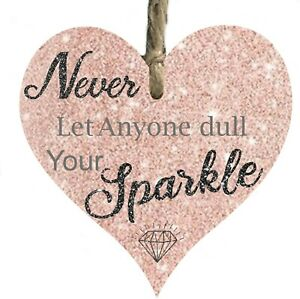 Girl Sparkle pretty inspirational Quote Wooden Plaque Sign gift keepsake