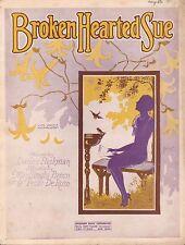 BROKEN HEARTED SUE jazz song MAY SINGHI BREEN piano ukulele PETER DE ROSE 1926