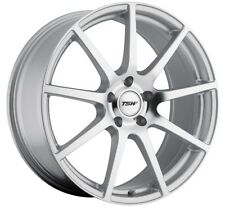 19x8 TSW Interlagos 5x100 Rims +45 Silver Wheels (Set of 4)