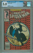 Amazing Spider-Man # 300 CGC 5.0 1st Appearance of Venom 1988 Newsstand Variant