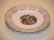 Sebring China USA Chantilly Pattern  22kt Gold Trim Bread and Butter Plate Set