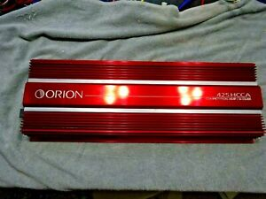 OLD SCHOOL ORION 425HCCA COMEPETITION 4 CHANNEL AMP WITH POP TOP AND PLUGS