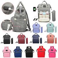 Mummy Maternity Nappy Bag Travel Backpack Baby Care Nursing Diaper Handbag Totes