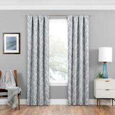 Eclipse 16429037095SLV Haley 37x95 Single Room Darkening Window Curtain