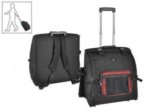 Akkordeon Tasche Trolley Bag Rucksack 120 Bässe stabil leicht neuer Zipper