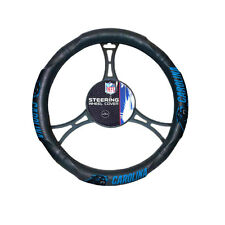 New NFL Carolina Panthers Synthetic leather Car Truck Steering Wheel Cover