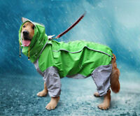 Extra Large Dog Raincoat Outdoor Hoodie Jacket Pet Waterproof Muddy Rain Coat