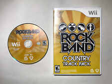 Rock Band: Country Track Pack (Nintendo Wii, 2009) Complete