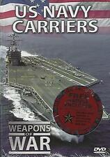DVD-U.S. NAVY CARRIERS-DVD AND BOOK-STILL FACTORY SEALED-WEAPONS OF WAR SERIES