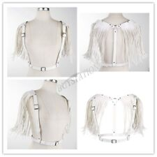Sexy Women Leather Body Chest Harness Waist Belt+Tassel Cosplay Costume Clubwear