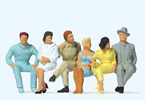 "Preiser 63201 Scale 1:3 2 Gauge 1 Figurines "" Seated Passengers "" Hand Painted #"