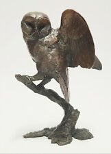 More details for solid bronze owl by michael simpson