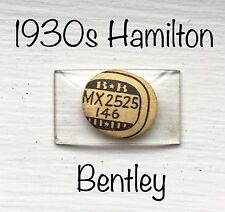 NOS Vintage Hamilton 1930s 14K Solid Gold Bentley Watch Glass Crystal