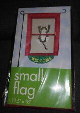 """Decorative Mini Flag """"Welcome"""" 11.5"""" x 18"""" Nip"""