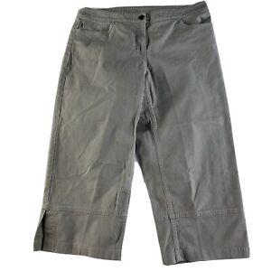Eileen Fisher Womens PM Petite Medium Gray Relaxed Capri Pants
