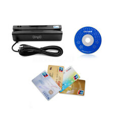 Zcs160 4 in 1 Magnetic Stripe Credit Card Emv Ic Chip Rfid Psam Reader ~ bg