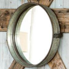 Large Galvanized Metal Drum Mirror~Industrial Farmhouse