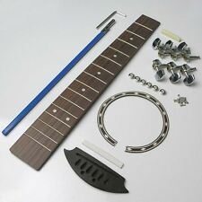 Travel guitar kit, touche, truss rod, écrou, selle, tuners, rosette tgk