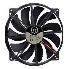 "Thermaltake Pure 20 Dc Fan - 1 X 7.87"" - 800 Rpm - Long Life Sleeve Bearing"