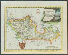 C1760 Originale Antico Mappa del Berkshire da Thomas Bowen colorato a mano (001)