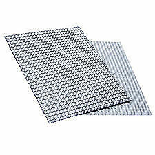Embossed Aluminum Heat Shield 1000mm x 1000mm Turbo Manifold Exhausts Electrical