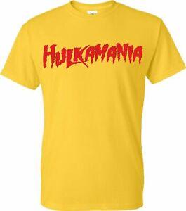 Hulkamania T-Shirt WWF WWE Yellow 80s 90s fan inspired Hulk Tee Costume
