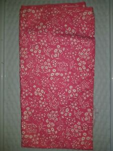 "RARE VINTAGE COTTON PINK & WHITE FLORAL FABRIC 2 YARDS 36"" W 50's DRESS"