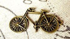 Bicycle charm 2 antique bronze vintage style pendant bike charm C123