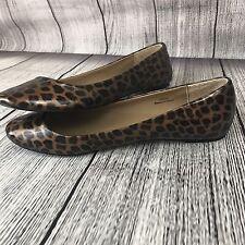 J Crew Slip On Flats Women's Size 9 Shoes Leopard Animal Print