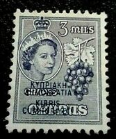 Cyprus:1960 Stamps of 1955 Overprinted 3 Mils Rare & Collectible stamp.
