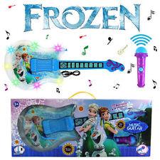 57CM BLUE FROZEN FEVER ELSA ANNA MUSIC GUITAR & MICROPHONE LIGHT & SOUND KID TOY