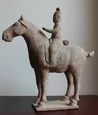 CHINESE TANG DYNASTY HORSE AND RIDER
