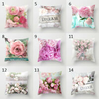 New Office Rose Sofa Square Pillow Case Flower Cushion Cover Throw Home Decor