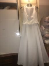 jessica mcclintock 2pc white wedding formal ball gown check size USA