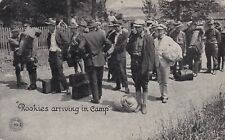 World War 1 Recruits arriving in Camp Chicago Daily News Postcard 1917