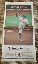 2019 Astros ALCS game 2 Houston Chronicle newspaper NY Yankees American League