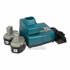 2 Makita 1833 1822 3.0AH NI-Mh Batteries and 1 Makita Replacement Charger