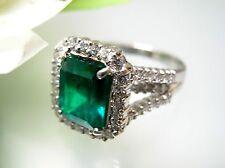 Exclusive 3.25 ct Real Columbia Emerald Platinum Emerald cut Ring G.I.A  Cert.
