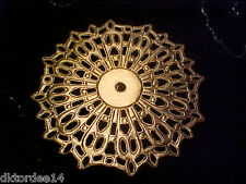 Vtg 24 GORGEOUS BRASS FILIGREE DISK SHAPE FOCUS PIECE 48MM #040514c