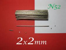 Forza N52 500 pezzi CALAMITE Grado superiore MAGNETI NEODIMIO  2x2mm Magnete .
