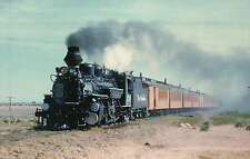 Denver & Rio Grande's K28, Mikado, #476 in 1960, Alamosa Railroad Train Postcard